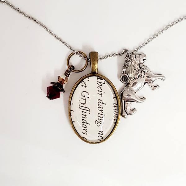 Gryffindor - Harry Potter Book Necklace