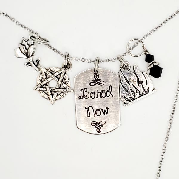 Bored Now - Willow - Buffy Inspired Charm Necklace