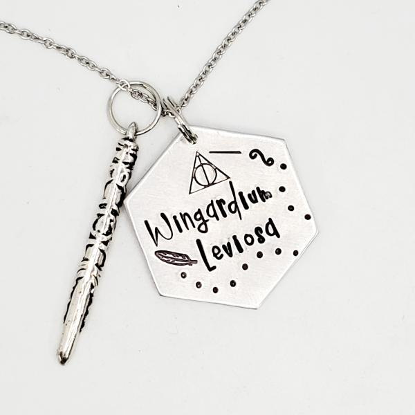 Wingardium Leviosa - Harry Potter Inspired - single charm necklace