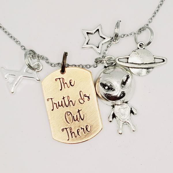 The Truth is out there - The X-files Inspired charm necklace