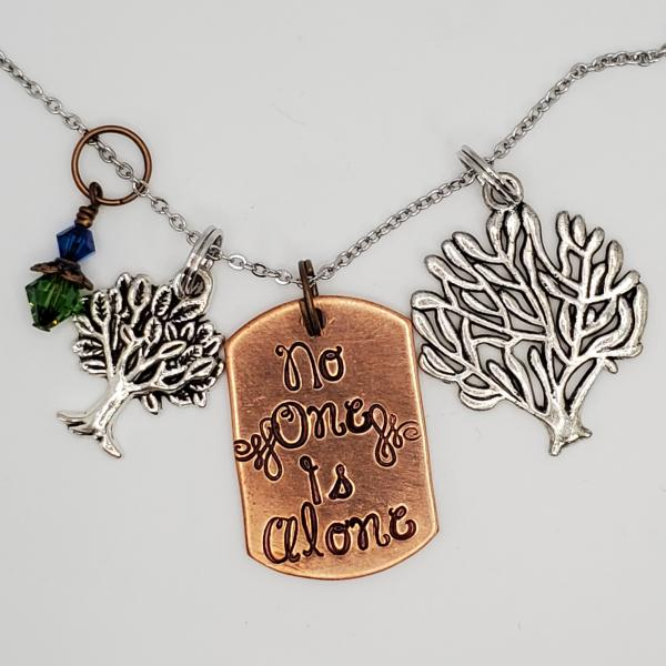 No one is alone - Into the Woods inspired - Charm Necklace