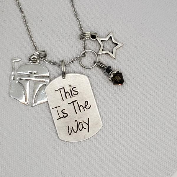 This is the Way - Mandalorian inspired charm necklace
