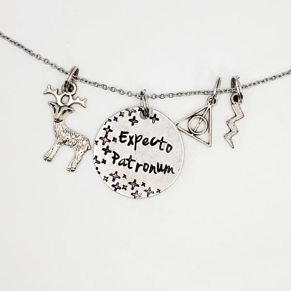 Expecto Patronum - Harry Potter inspired - Charm Necklace