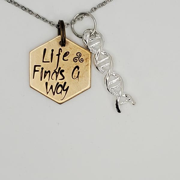 Life Finds a Way - Jurassic Park inspired Charm Necklace