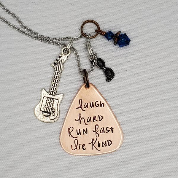 Laugh Hard Run Fast Be Kind - 12th Doctor - Doctor Who - Charm Necklace