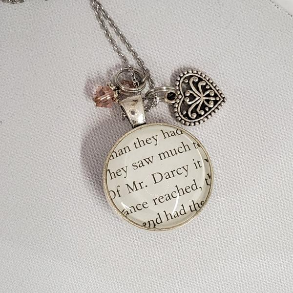 Jane Austen - Pride and Prejudice - Double Sided Book Necklace picture