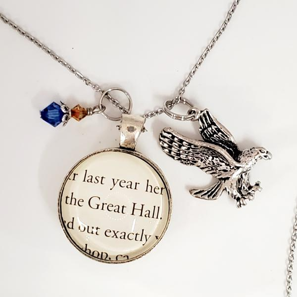 Ravenclaw - Great Hall - Harry Potter Double Sided Book Necklace picture