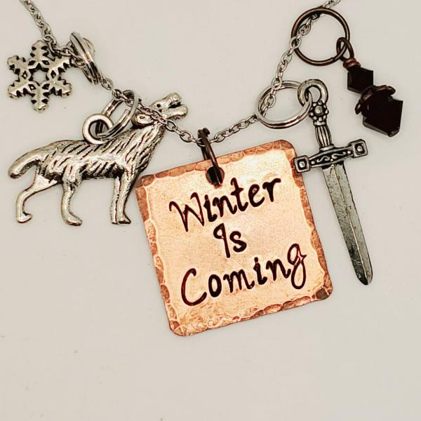 Winter is Coming - Game of Thrones inspired charm necklace