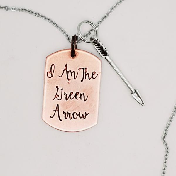I am the Green Arrow - Arrow - single Charm Necklace picture