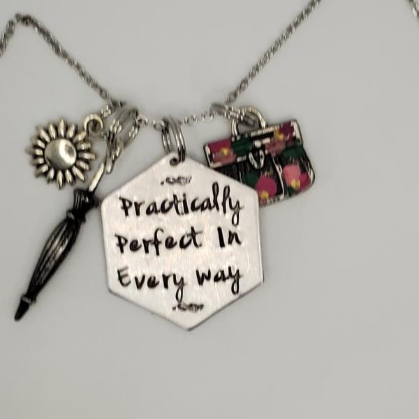 Practically Perfect in Every Way - Mary Poppins inspiredCharm Necklace