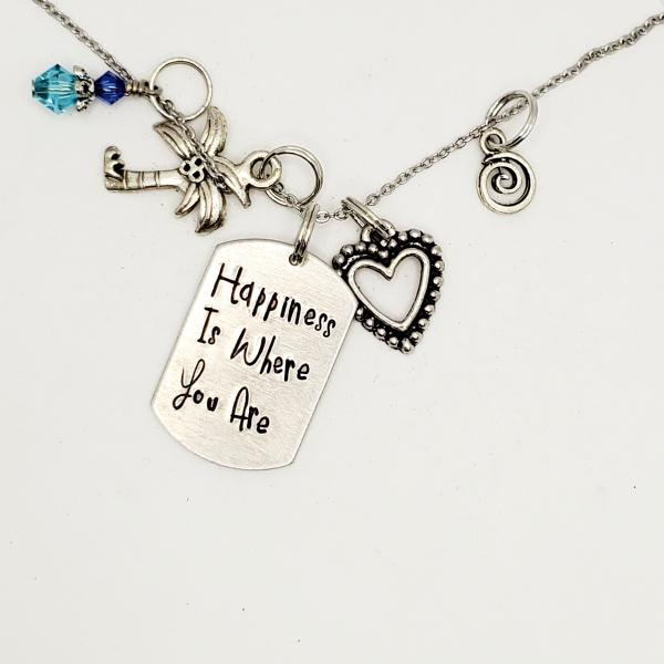 Happiness is where you are - Moana Inspired charm necklace