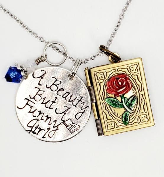 A Beauty but a Funny girl - Beauty and the Beast inspired - Charm Necklace picture