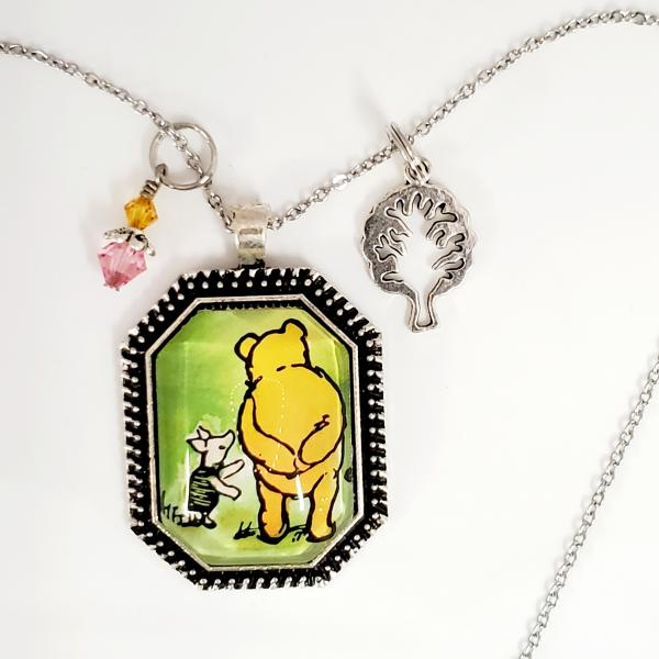 Pooh and Piglet - Winnie The Pooh - Single Side Book Necklace