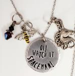 Oi! Watch It Spaceman! - Donna Noble - Doctor Who - Charm Necklace