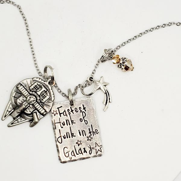 Fastest Hunk of Junk in the Galaxy - Star Wars Inspired charm necklace