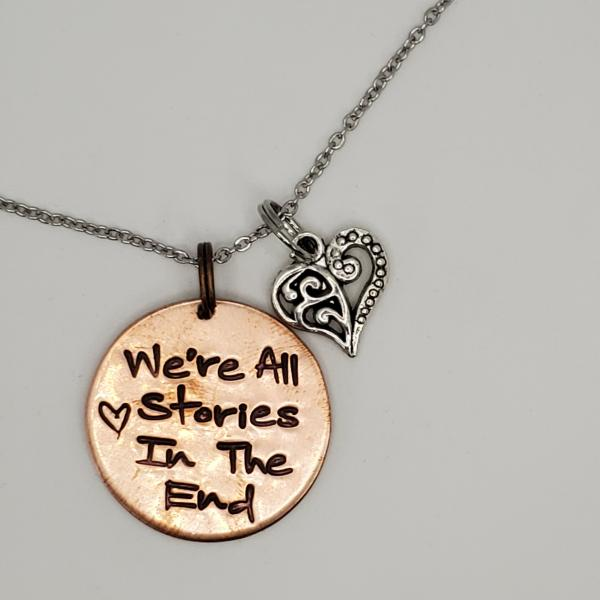 We're All Stories in the end - 11th Doctor - Doctor Who - Single Charm Necklace