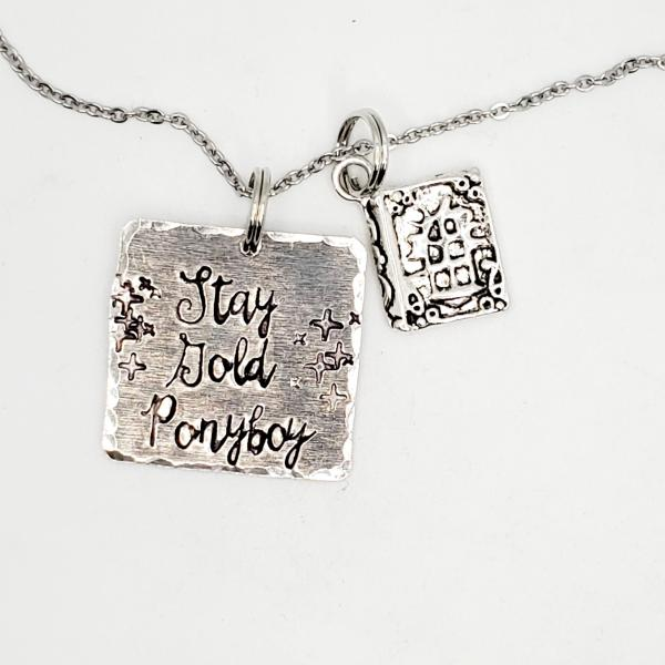 Stay Gold Ponyboy - The Outsiders - Single Charm Necklace