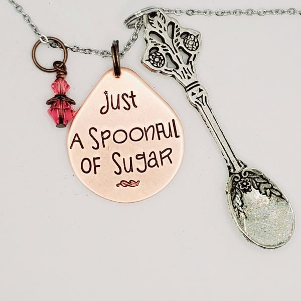 Just a spoonful of sugar  -  Mary Poppins Inspired charm necklace