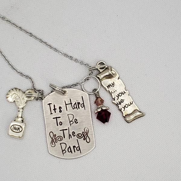It's hard to be the bard - Something Rotten - Charm Necklace