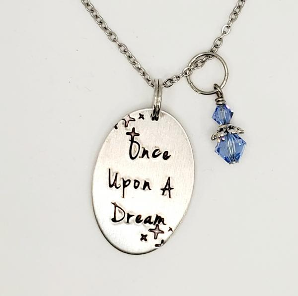 Once upon a Dream - Cinderella inspired - Single Charm Necklace