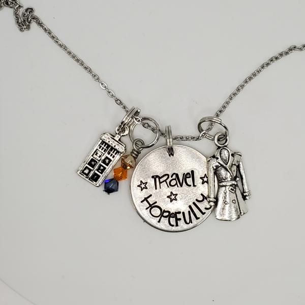 Travel Hopefully - 13th Doctor - Doctor Who - Charm Necklace picture