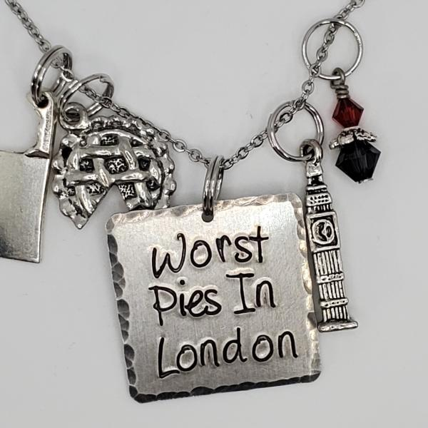 Worst pies in London - Sweeney Todd inspired - Charm Necklace