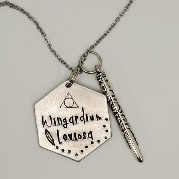 Wingardium Leviosa - Harry Potter Inspired - single charm necklace picture