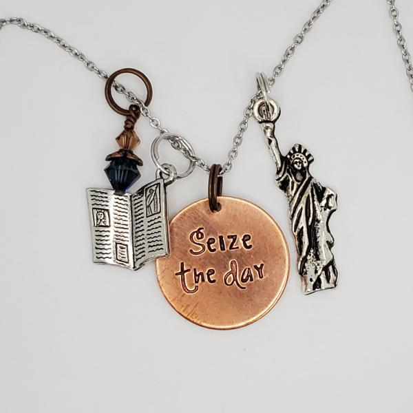 Seize the Day - Newsies inspired - Charm Necklace