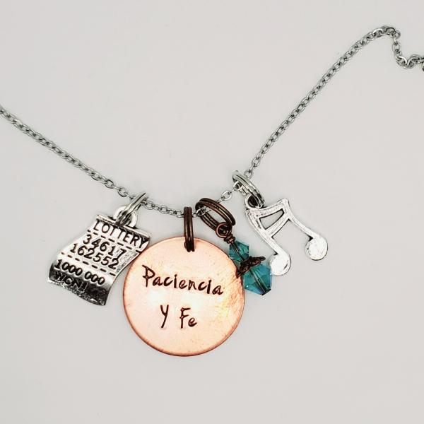 Paciencia Y Fe - In the Heights inspired charm necklace