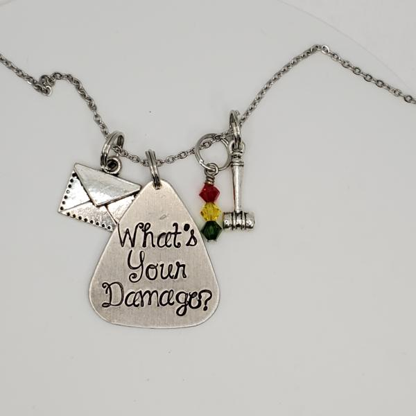What's your damage? - Heathers inspired - Charm Necklace