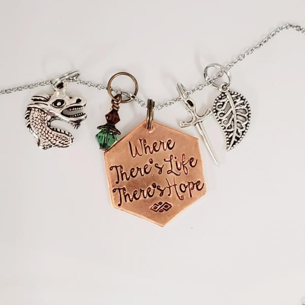 Where there's life there's hope - Tolkien Inspired charm necklace