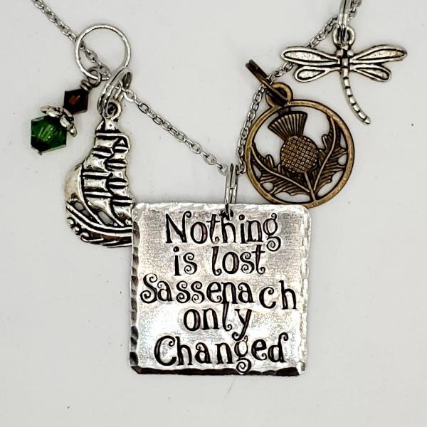 Nothing is lost Sassenach, Only changed - 'Outlander inspired charm necklace
