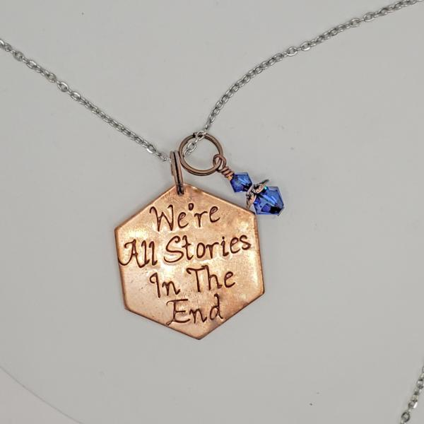 We're all Stories in the End - 11th Doctor - Doctor Who - Single Charm Necklace picture