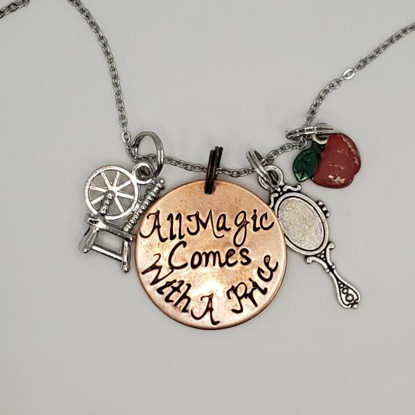 All Magic comes with a price - Once upon a Time inspired - Charm Necklace