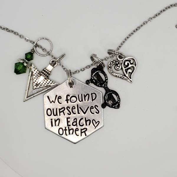 We found ourselves in each other - Oliver / Felicity - Arrow - Charm Necklace