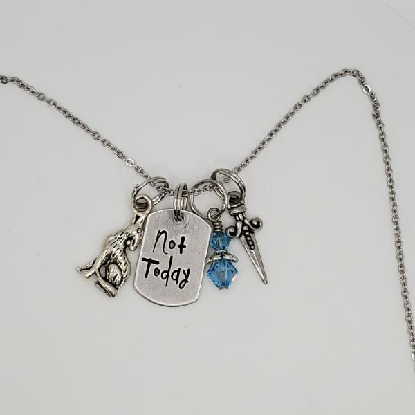 Not Today - Arya Stark - Game Of Thrones - Charm Necklace