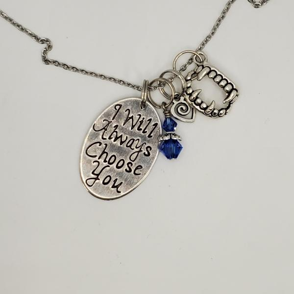 I will always choose you - Vampire Diaries Inspired Charm Necklace