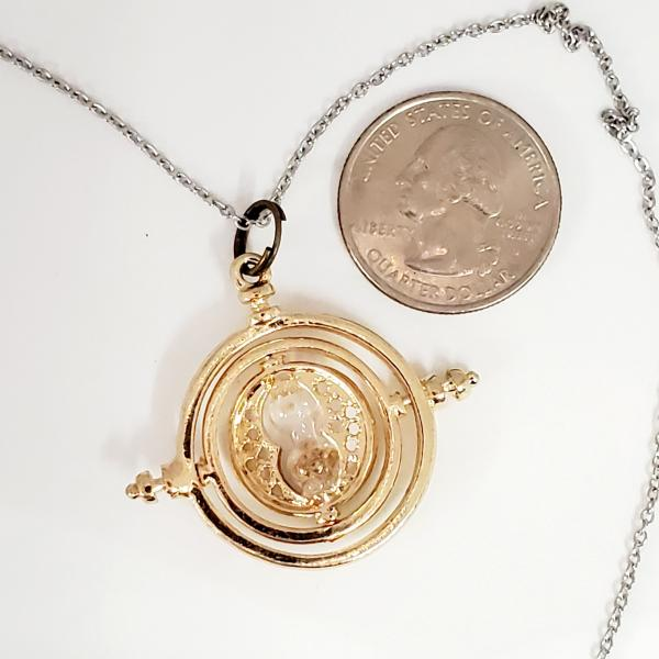 Mini Time Turner - Harry Potter Inspired - single charm necklace