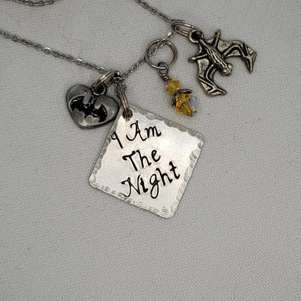 I am the night - Batman- Charm Necklace