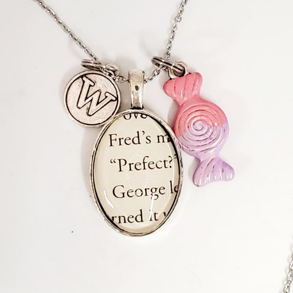 Fred / George - Harry Potter Book Necklace picture