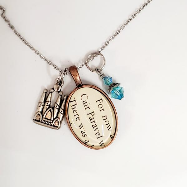 Cair Paravel - Narnia - Single Sided Book Necklace