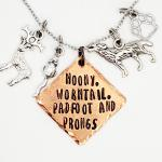 Moony, wormtail, padfoot and prongs - Marauders - Harry Potter inspired - Charm Necklace