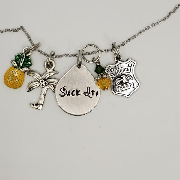 Suck It! Psych inspired Charm Necklace