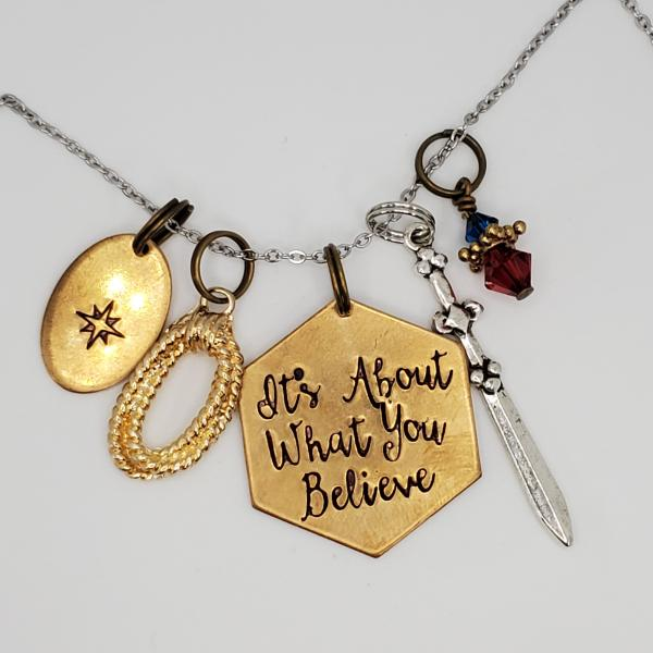 It's about what you believe - Wonder Woman - Charm Necklace