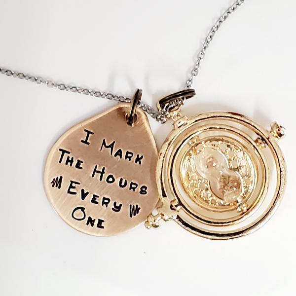 I mark the hours, every one. - Harry Potter inspired - Charm Necklace picture