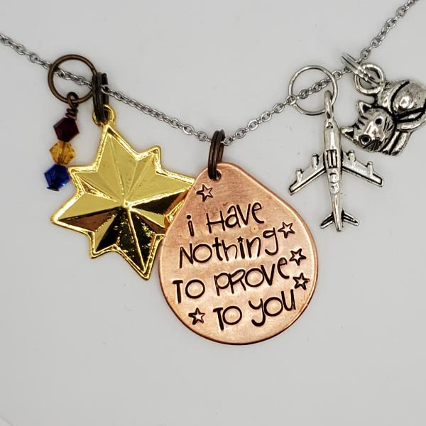 I have nothing to prove to you - Captain Marvel - Avengers - Charm Necklace picture