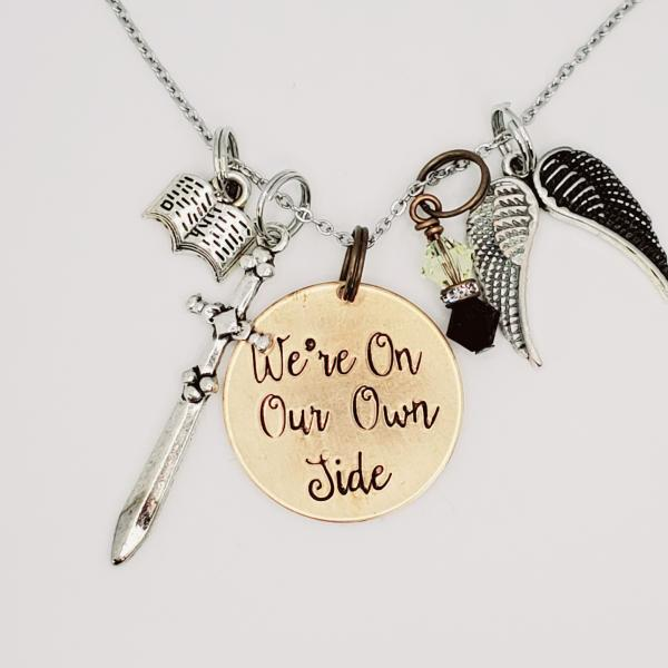 We're on our own side - Good Omens - Charm Necklace