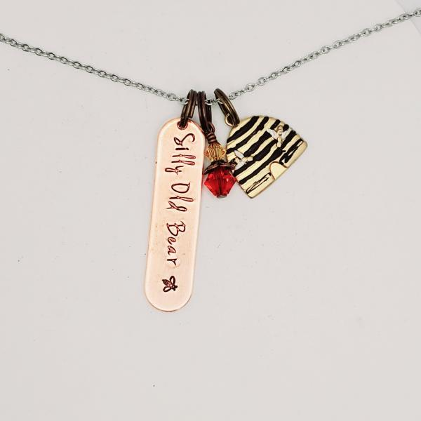 Silly Old Bear - Winnie The Pooh Inspired charm necklace