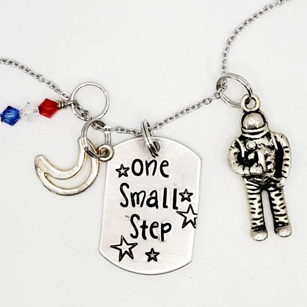 One small step - NASA inspired charm necklace