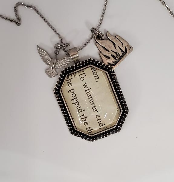 To whatever end - Throne of glass book necklace